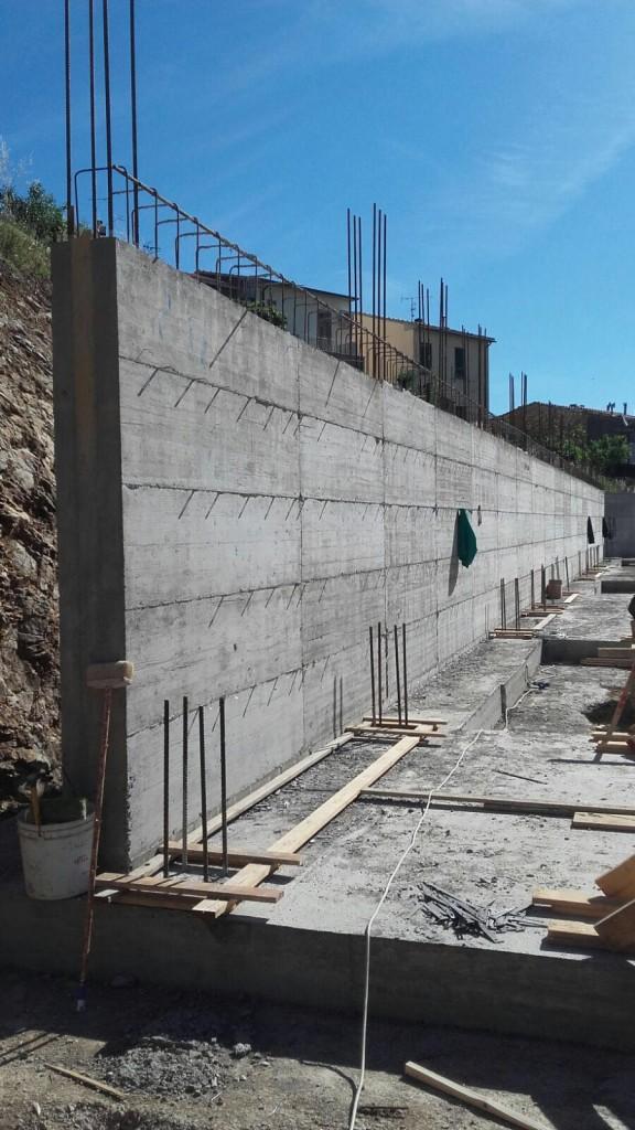 Il muro di sostegno